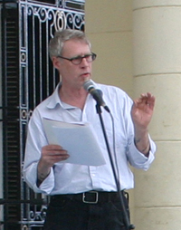R.D. Roy reading for the Union of Cuban Writers and Artists, Havana, 2008